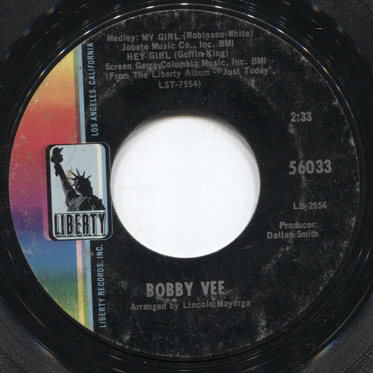 Bobby Vee: Just Keep It Up (And See What Happens) / Medley - 45 rpm Vinyl Record