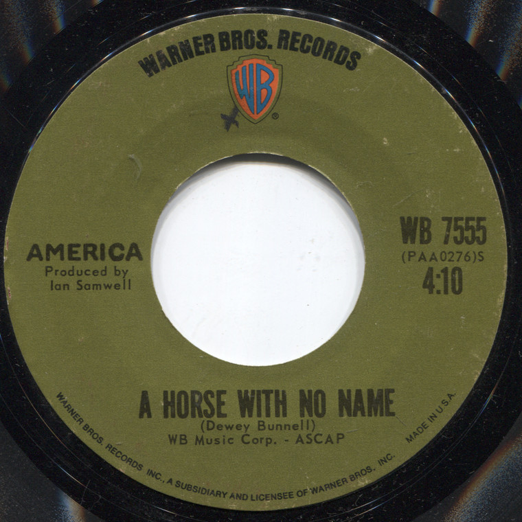 America: Everyone I Meet is from California / A Horse with No Name - Vintage 45 rpm Vinyl Record