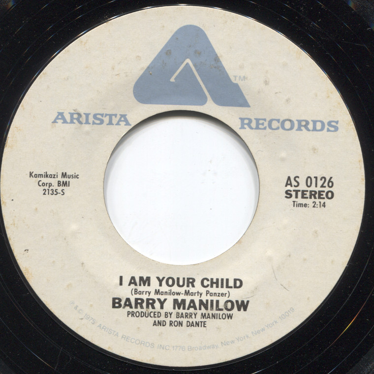 Barry Manilow: Could It Be Magic / I Am Your Child - 45 rpm Vinyl Record