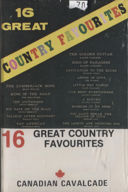 Various Artists: 16 Great Country Favourites, Canadian Cavalcade - Sealed Audio Cassette Tape