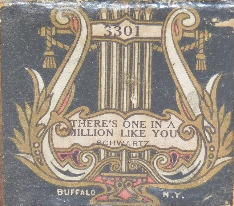 There's One in a Million Like You (#3301 Royal Music Roll Co.) - Player Piano Roll