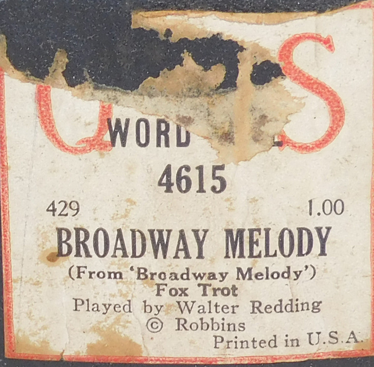 Broadway Melody (#4615 QRS Word Roll) - Player Piano Roll
