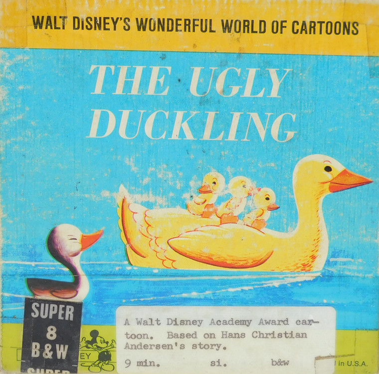 The Ugly Duckling Vintage Walt Disney Super 8mm Black & White Film