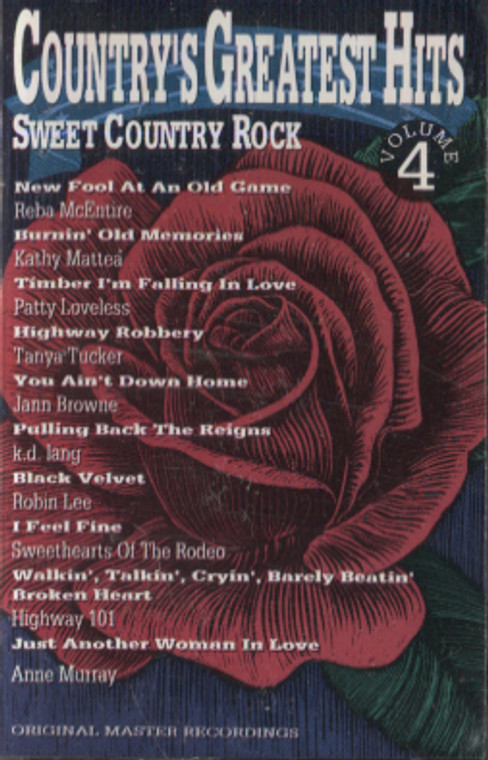 Various Artists: Country Greatest Hits, Volume 4 - Audio Cassette Tape