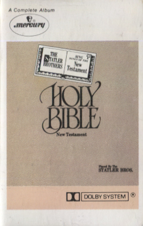 The Statler Brothers: Holy Bible, New Testament - Audio Cassette Tape