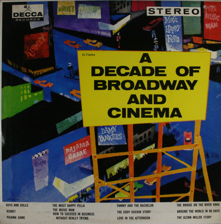 Various Artists: A Decade of Broadway and Cinema - LP Vinyl Record Album