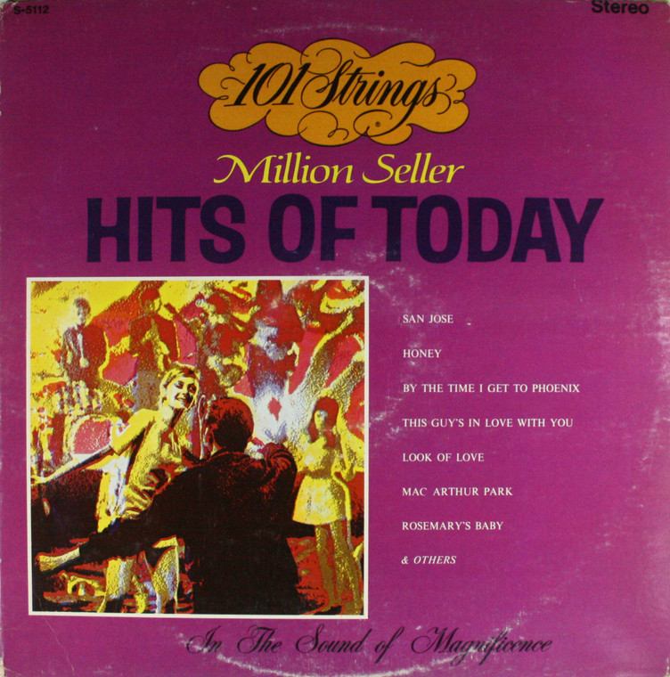 101 Strings: Million Seller Hits of Today - LP Vinyl Record Album