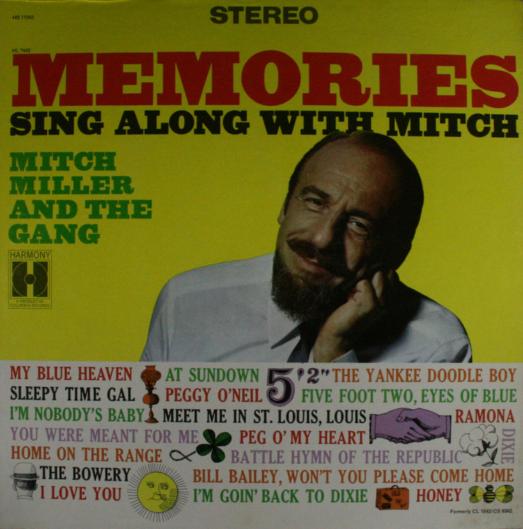 Mitch Miller and the Gang: Memories Sing Along with Mitch - LP Vinyl Record Album