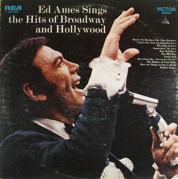 Ed Ames: Sings the Hits of Broadway and Hollywood - LP Vinyl Record Album