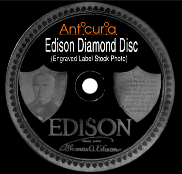 Green Bros. Novelty Band: Kiss A-Miss / Orlando's Orchestra: Just Wanting You - #50772 Edison Diamond Disc