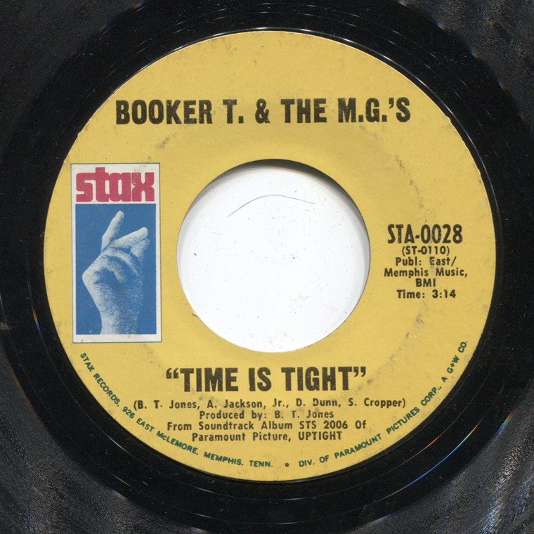 Booker T. & the M.G.'s: Time is Tight / Johnny, I Love You - 45 rpm Vinyl Record