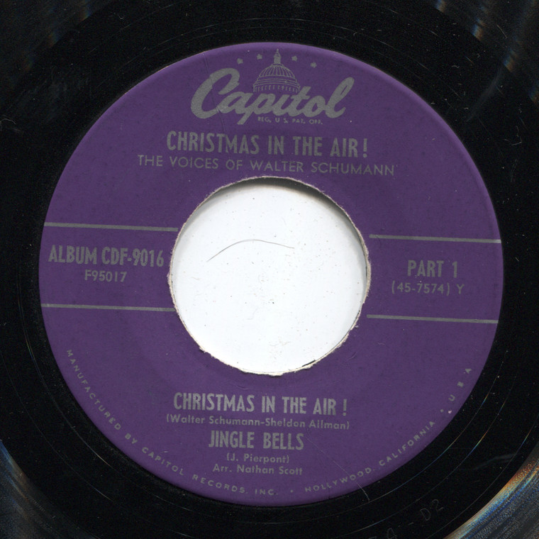 The Voices of Walter Schumann: Christmas in the Air! / Adeste Fidelis - 45 rpm Vinyl Record