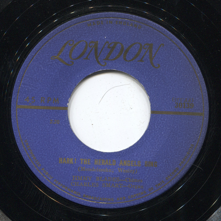 Jimmy Blades / Charles Smart: Hark! The Herald Angels Sing / It Came Upon a Midnight Clear - 45 rpm Vinyl Record