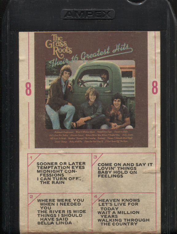 The Grass Roots: Their 16 Greatest Hits - Vintage 8 Track Tape