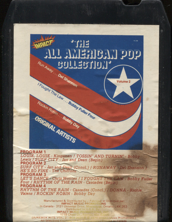 Various Artists: The All American Pop Collection, Volume 2 - Vintage 8 Track Tape