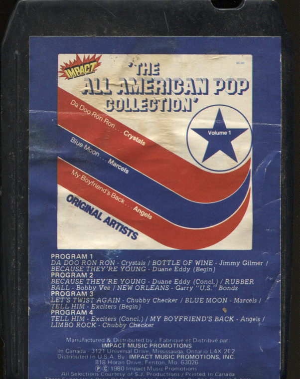 Various Artists: The All American Pop Collection, Volume 1 - Vintage 8 Track Tape