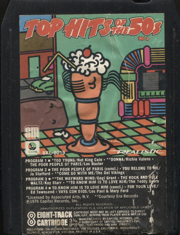 Various Artists: Top Hits of the 50's, Volume 3 - Vintage 8 Track Tape