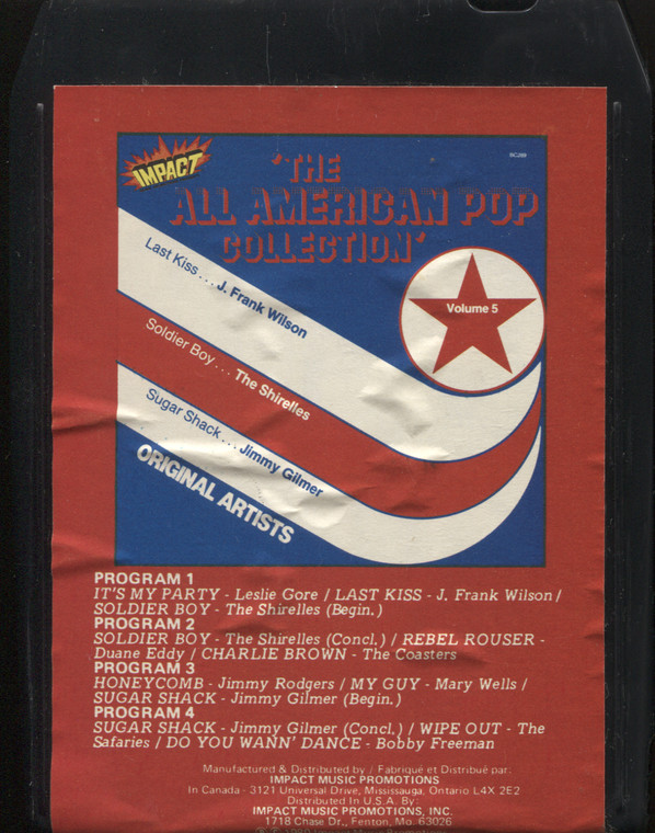 Various Artists: The All American Pop Collection, Volume 5 - Vintage 8 Track Tape