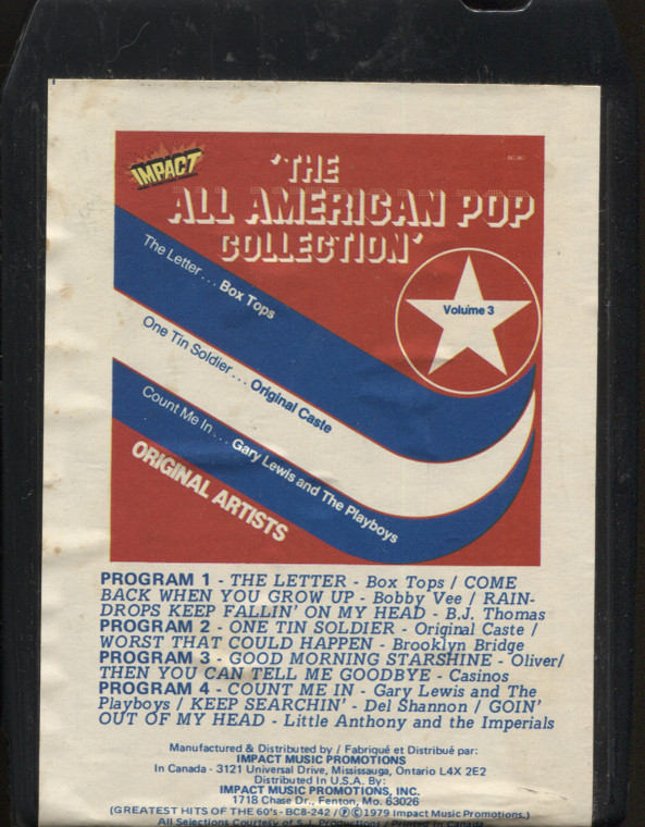 Various Artists: The All American Pop Collection, Volume 3 - Vintage 8 Track Tape