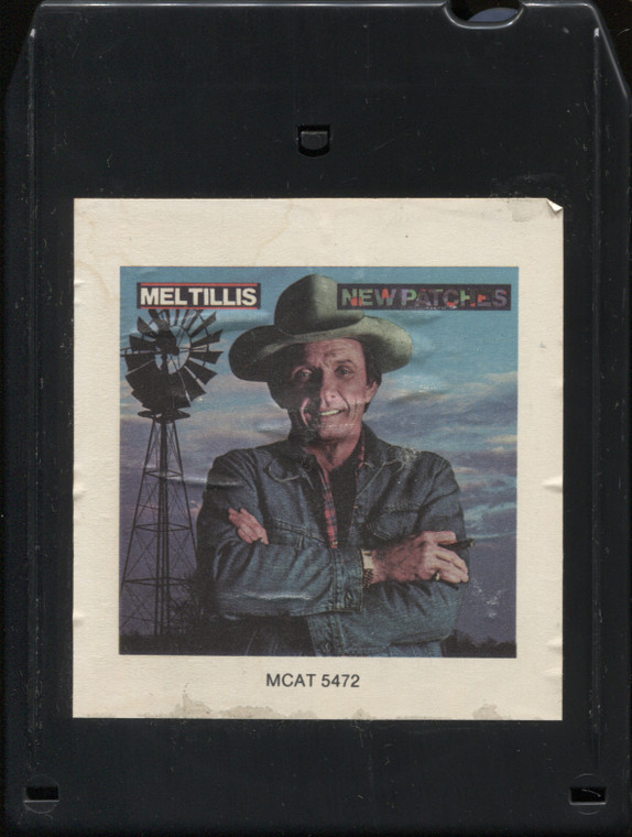 Mel Tillis: New Patches - Vintage 1984 Record Club Only 8 Track Tape