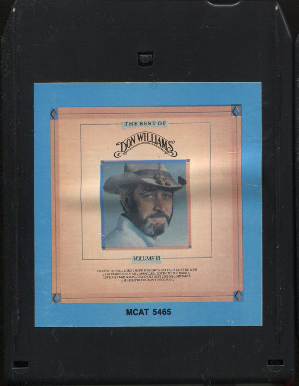 Don Williams: The Best of Don Williams, Volume 3 - Vintage 8 Track Tape