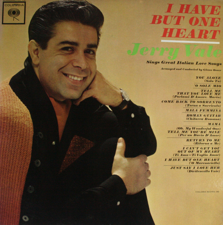 Jerry Vale: I Have But One Heart -  LP Vinyl Record Album