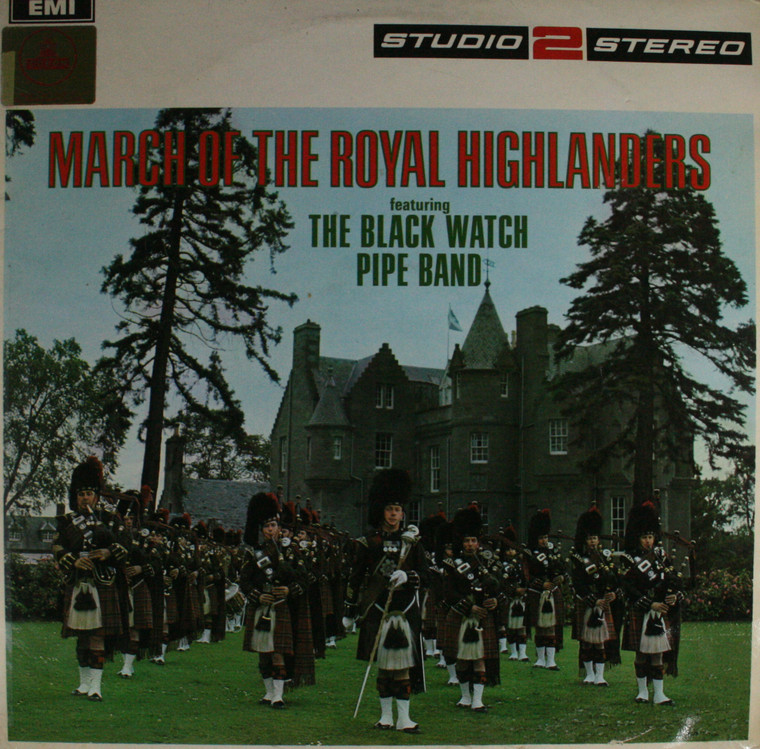 The Black Watch Pipe Band: March of the Royal Highlanders -  LP Vinyl Record Album