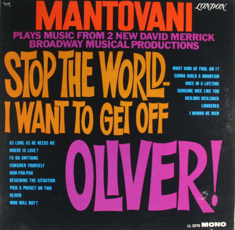 Mantovani: Stop the World I Want to Get Off / Oliver! -  LP Vinyl Record Album
