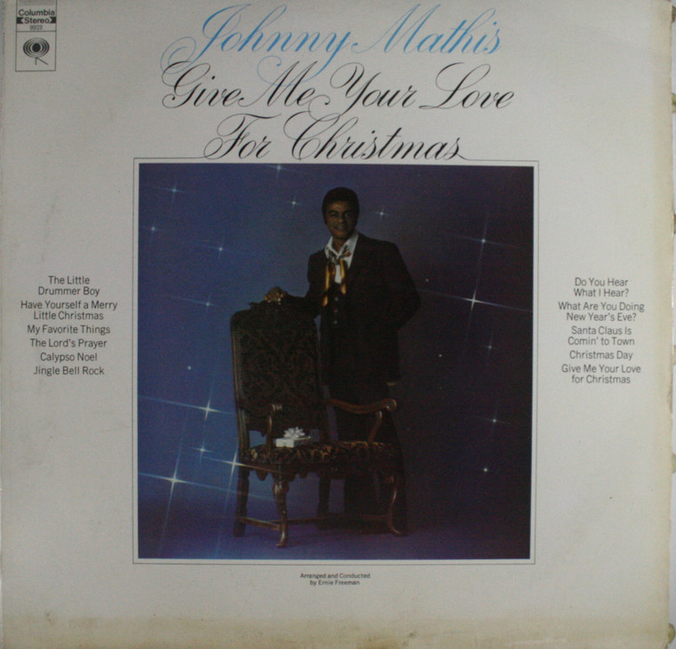 Johnny Mathis: Give Me Your Love for Christmas - LP Vinyl Record Album