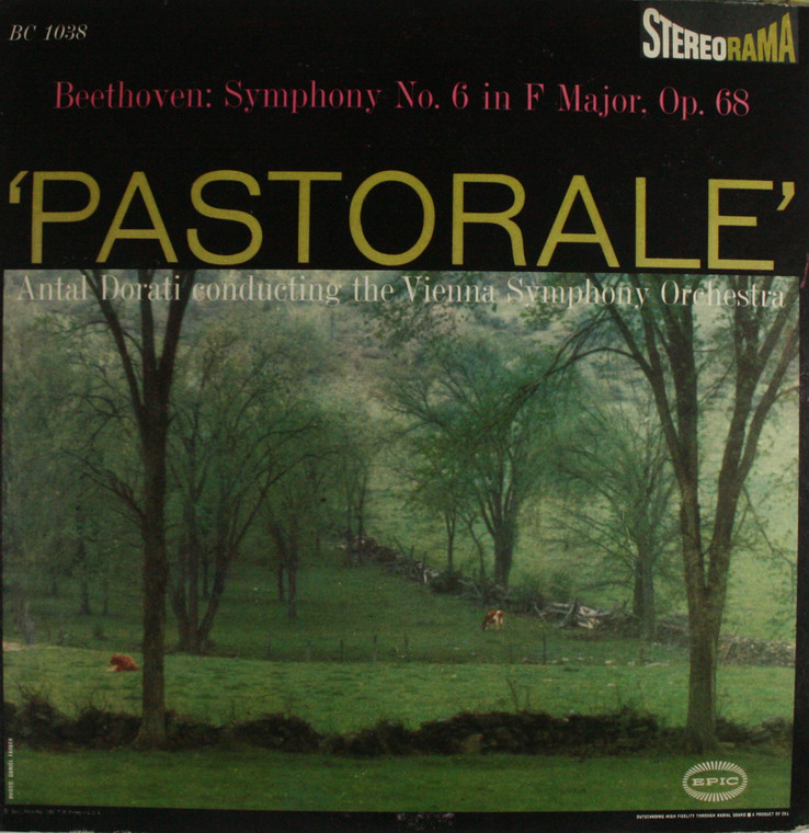 Vienna Symphony Orchestra: Beethoven Symphony No. 6 in F Major, Op. 68 Pastorale - LP Vinyl Record Album