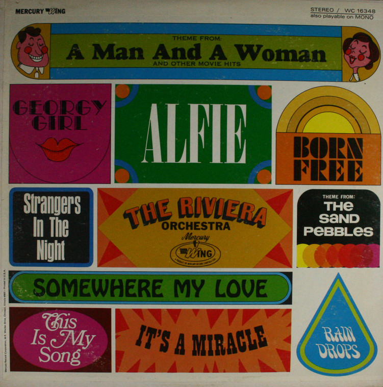 The Riviera Orchestra: Theme from A Man and a Woman - LP Vinyl Record Album