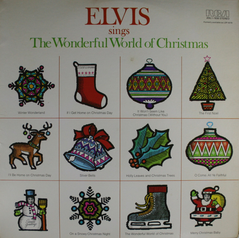 Elvis Presley: Elvis Sings the Wonderful World of Christmas - LP Vinyl Record Album