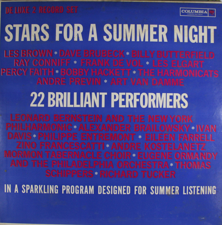 Various Artists: Stars for a Summer Night (2 Record Set) - LP Vinyl Record Album