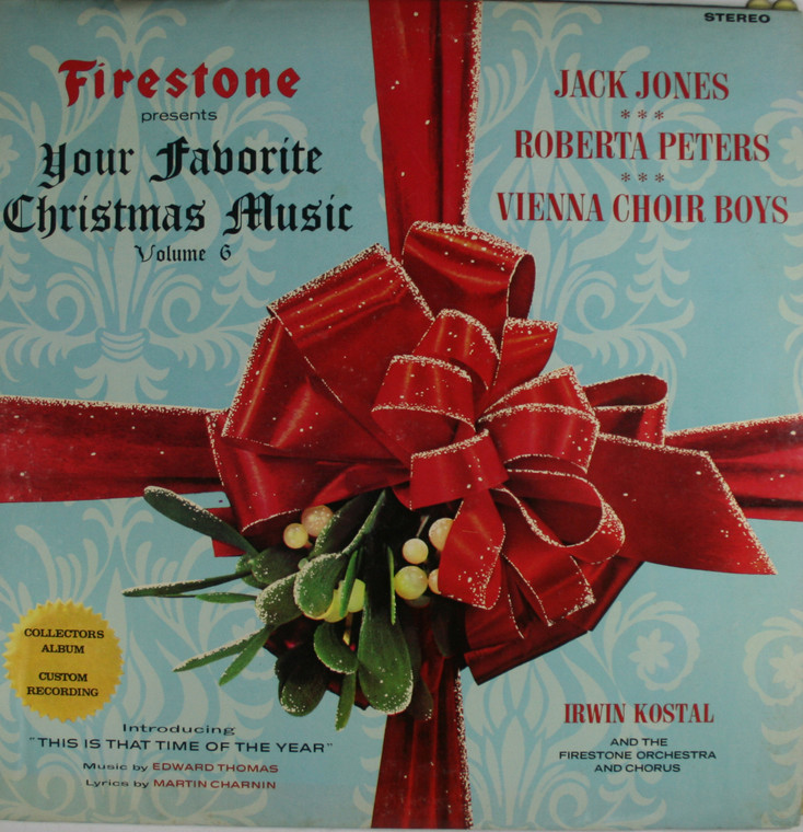 Various Artists: Firestone Presents Your Favorite Christmas Music, Volume 6  - Vintage LP Vinyl Record Album