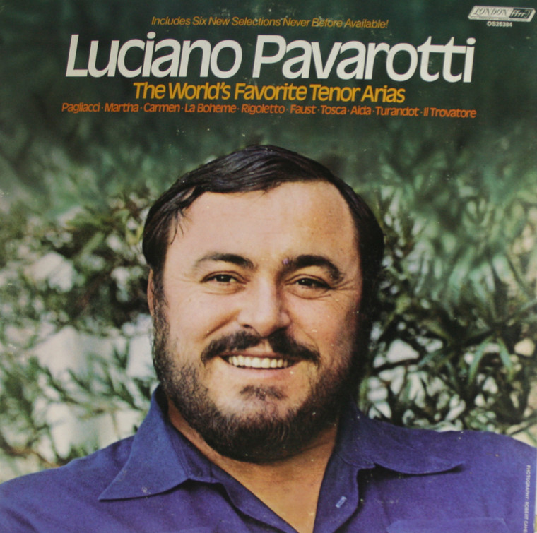 Luciano Pavarotti: The World's Favorite Tenor Arias - LP Vinyl Record Album