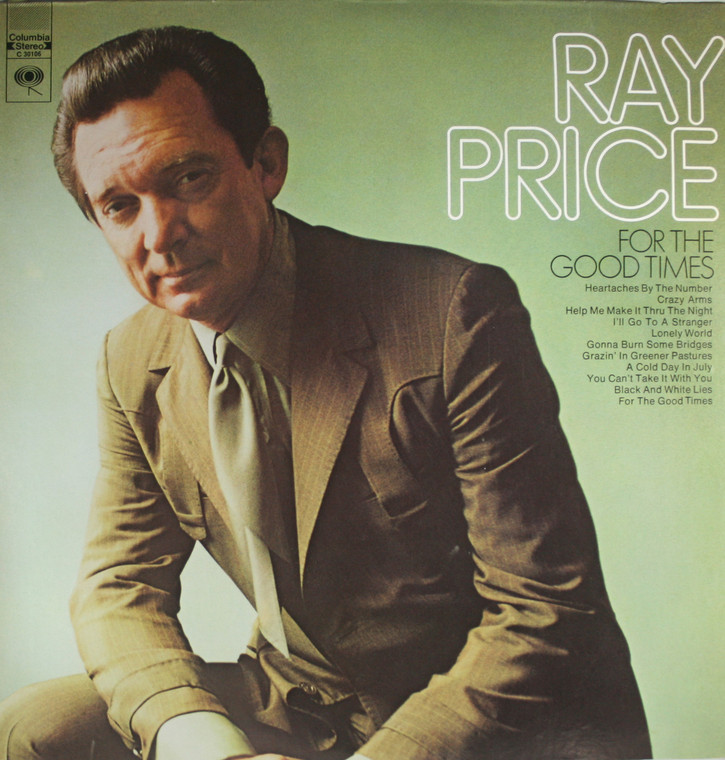 Ray Price: For the Good Times - Vintage LP Vinyl Record Album