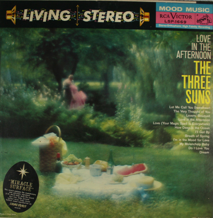 The Three Suns: Love in the Afternoon - LP Vinyl Record Album