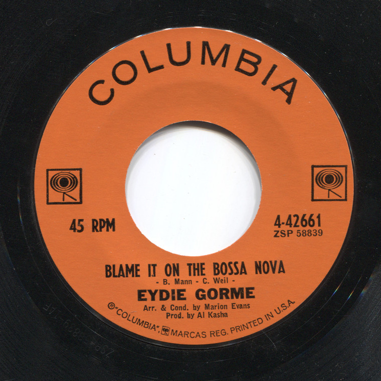 Eydie Gorme: Blame It on the Bossa Nova / Guess I Should Have Loved Him More - 45 rpm Vinyl Record
