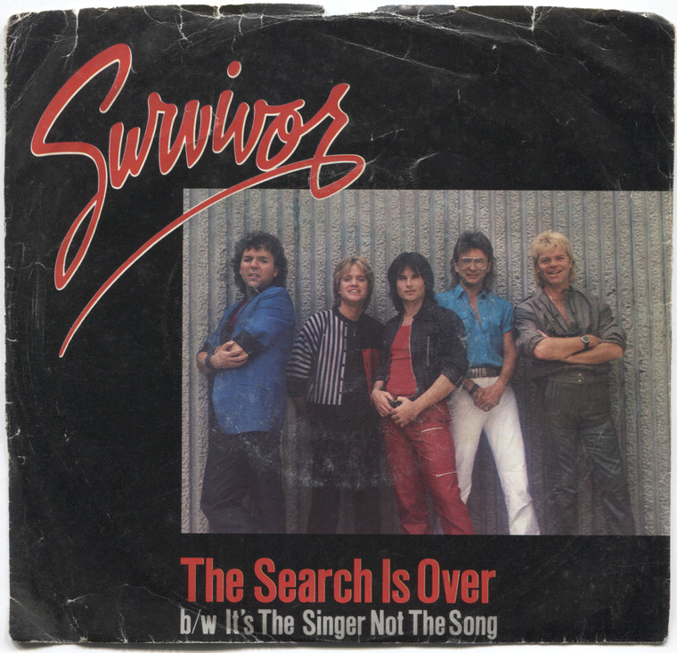 Survivor: The Search is Over / It's the Singer Not the Song - 45 rpm Vinyl Record & Picture Sleeve