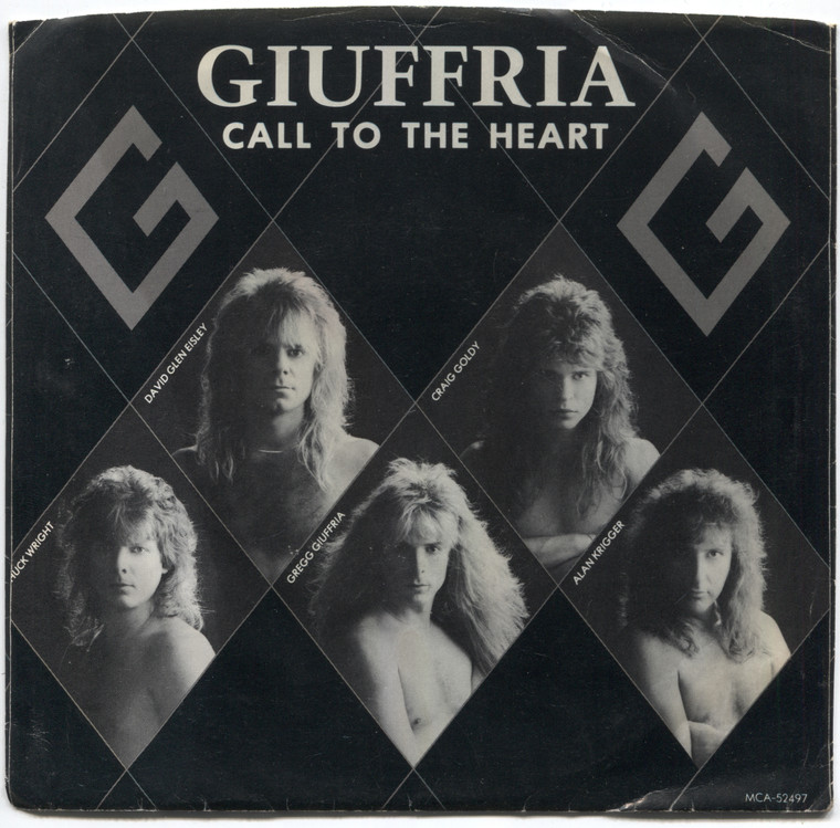 Giuffria: Call to the Heart / Out of the Blue - 45 rpm Vinyl Record & Picture Sleeve