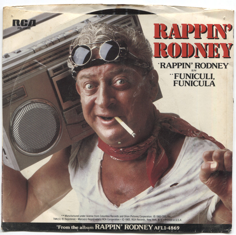 Rodney Dangerfield: Rappin' Rodney / Funiculi, Funicula - 45 rpm Vinyl Record & Picture Sleeve