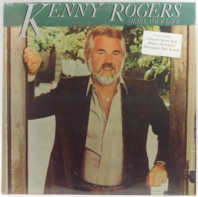 Kenny Rogers: Share Your Love - Factory Sealed LP Vinyl Record Album