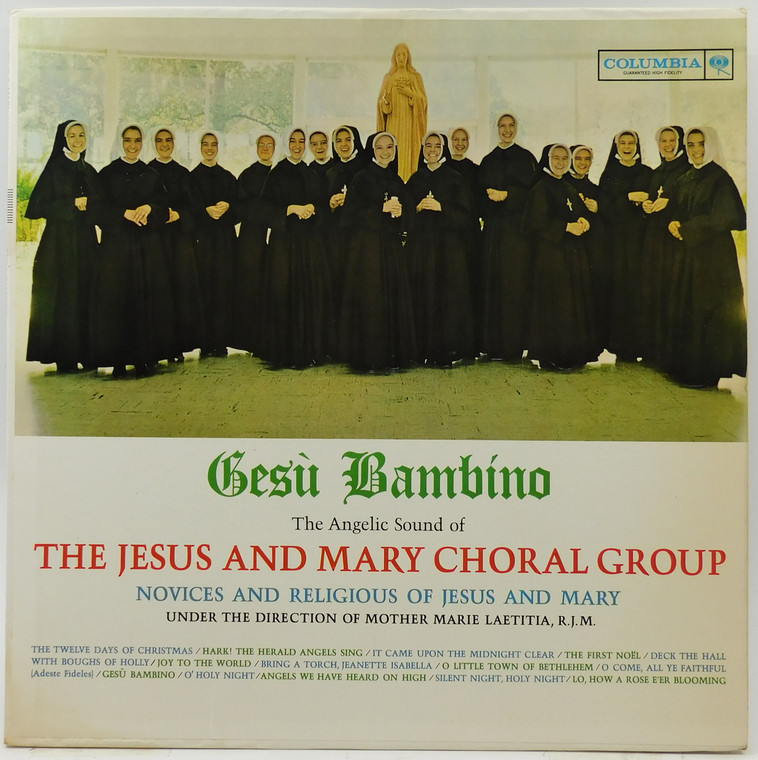 The Jesus and Mary Choral Group: Gesu Bambino LP Vinyl Record Album