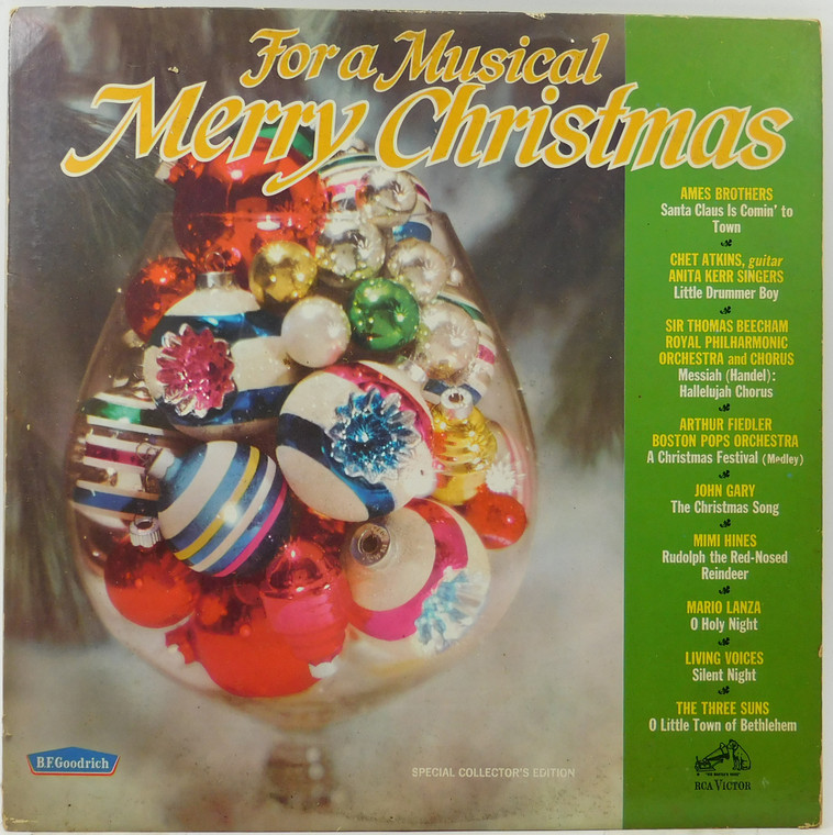 Various Artists: For a Musical Merry Christmas - Vintage B.F. Goodrich LP Vinyl Record Album