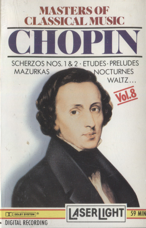Various Artists: Masters of Classical Music, Volume 8, Chopin - Vintage Audio Cassette Tape