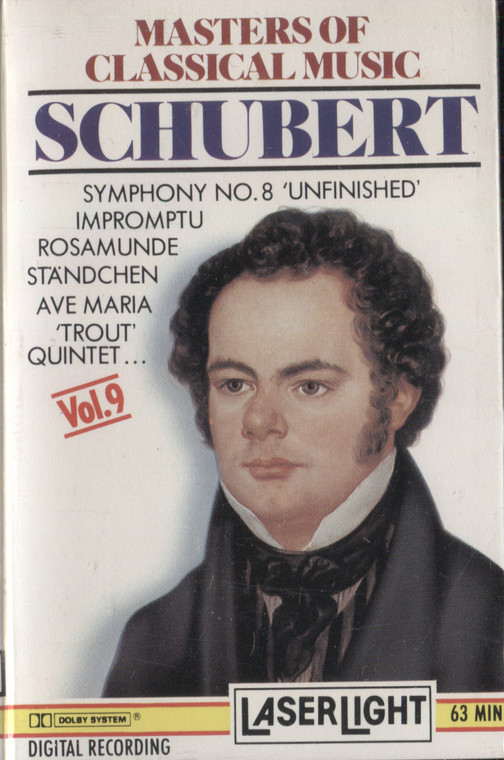 Various Artists: Masters of Classical Music, Volume 9, Schubert - Vintage Audio Cassette Tape