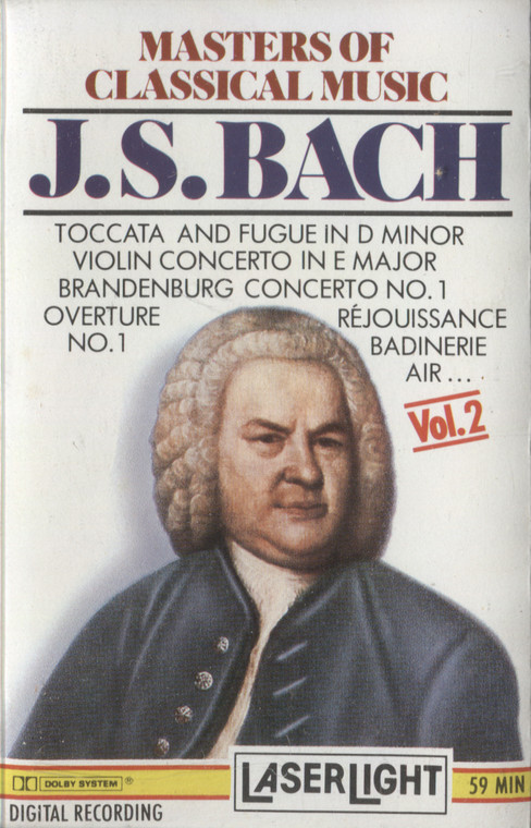 Various Artists: Masters of Classical Music, Volume 2, J.S. Bach - Vintage Audio Cassette Tape
