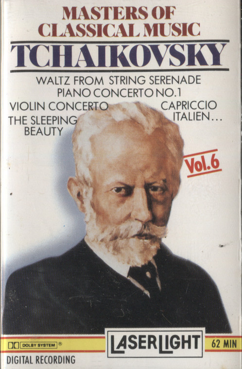 Various Artists: Masters of Classical Music, Volume 6, Tchaikovsky - Vintage Audio Cassette Tape