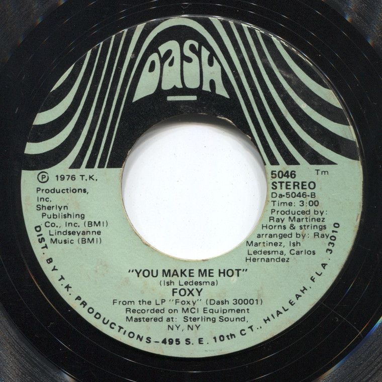Foxy: You Make Me Hot / Get Off - 45 rpm Vinyl Record