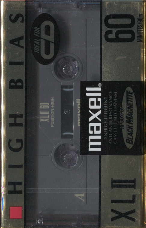 NOS Vintage Maxell XLII Blank 60 Minute Audio Recording Cassette Tape